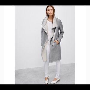 Babaton cormac coat sz xxs in grey